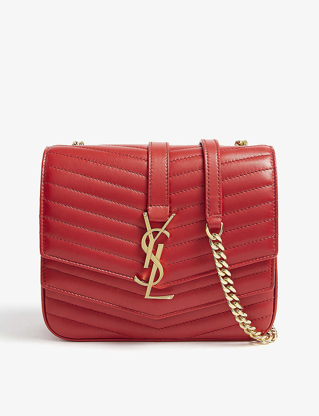 e09a84fff98b SAINT LAURENT - Sulpice monogram small quilted leather cross-body ...