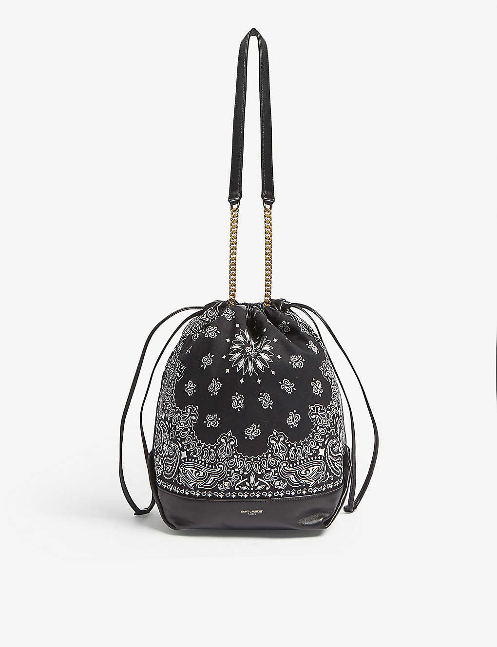 SAINT LAURENT - Teddy bandana print bucket bag  30473d122e6f8