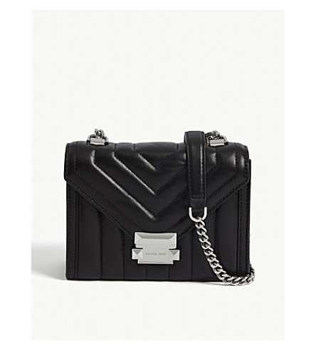 ... MICHAEL MICHAEL KORS Whitney small leather shoulder bag (Black.  PreviousNext ca0def0b0787d