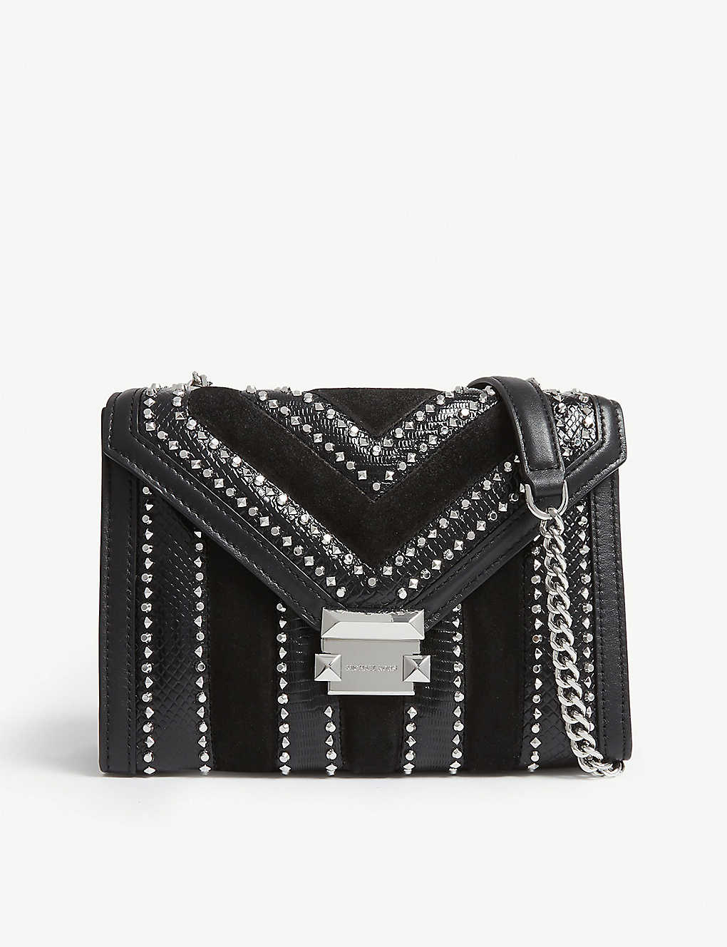 MICHAEL MICHAEL KORS - Whitney studded leather shoulder bag ... 23462655be84f