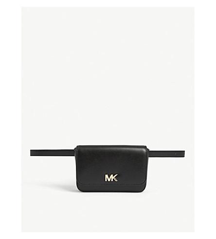 30d398bee778 ... MICHAEL MICHAEL KORS Mott leather belt bag (Black. PreviousNext