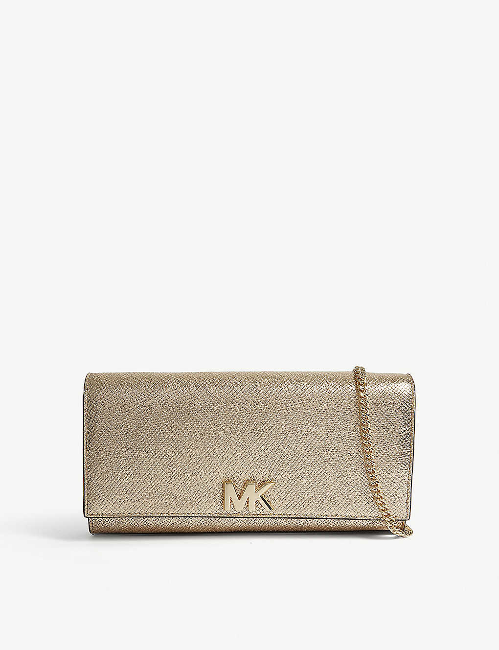 81de27ed4113 MICHAEL MICHAEL KORS - Mott metallic-leather clutch bag