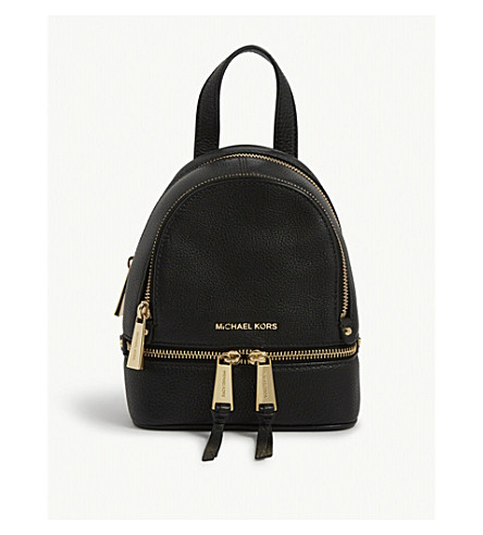 51614dbdb8d9 ... uk michael michael kors rhea extra small leather backpack black.  previousnext b3b76 4ef0b