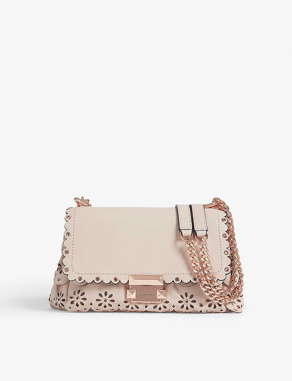 7f30c74027715 MICHAEL MICHAEL KORS - Sloan floral scalloped leather shoulder bag ...