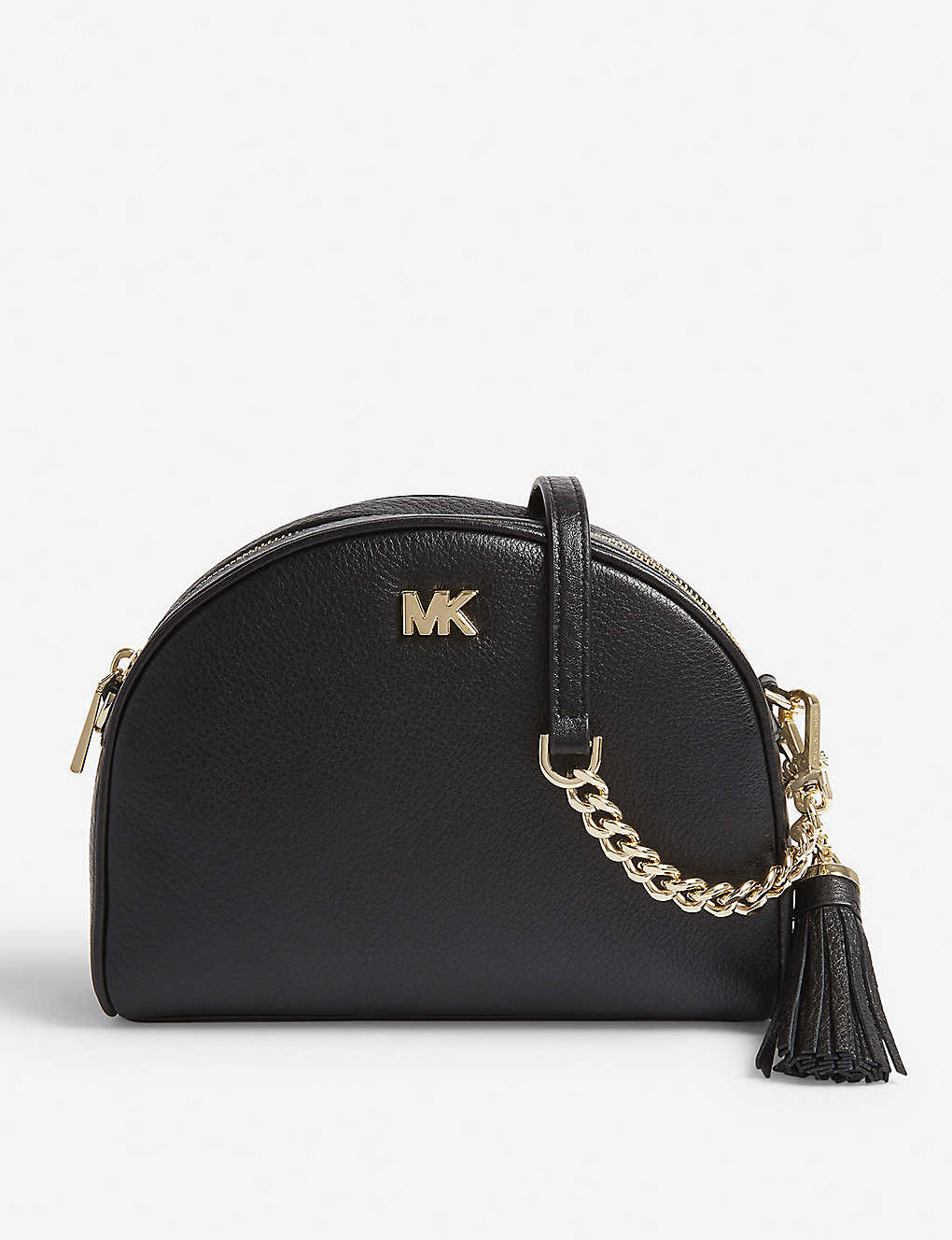 463c088f52 MICHAEL MICHAEL KORS - Half-moon pebbled leather shoulder bag ...