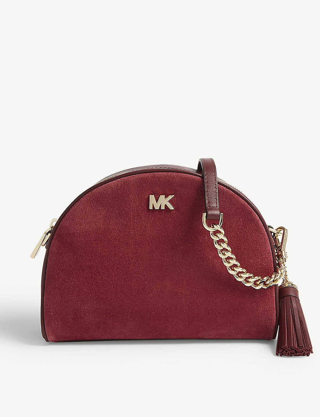 MICHAEL MICHAEL KORS - Ginny suede half moon cross-body bag ... 4f78d10eab297