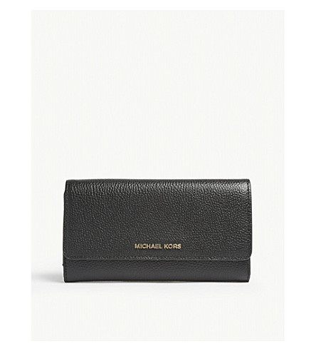 ab9ed5cd27a6 ... MICHAEL MICHAEL KORS Mercer leather tri-fold wallet (Black. PreviousNext