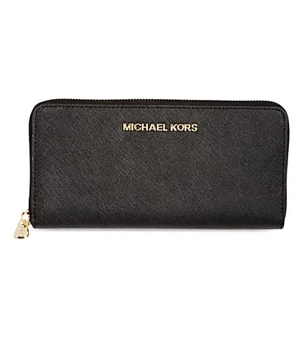 d3b935068d34 ... MICHAEL MICHAEL KORS Jet Set saffiano leather wallet (Black.  PreviousNext