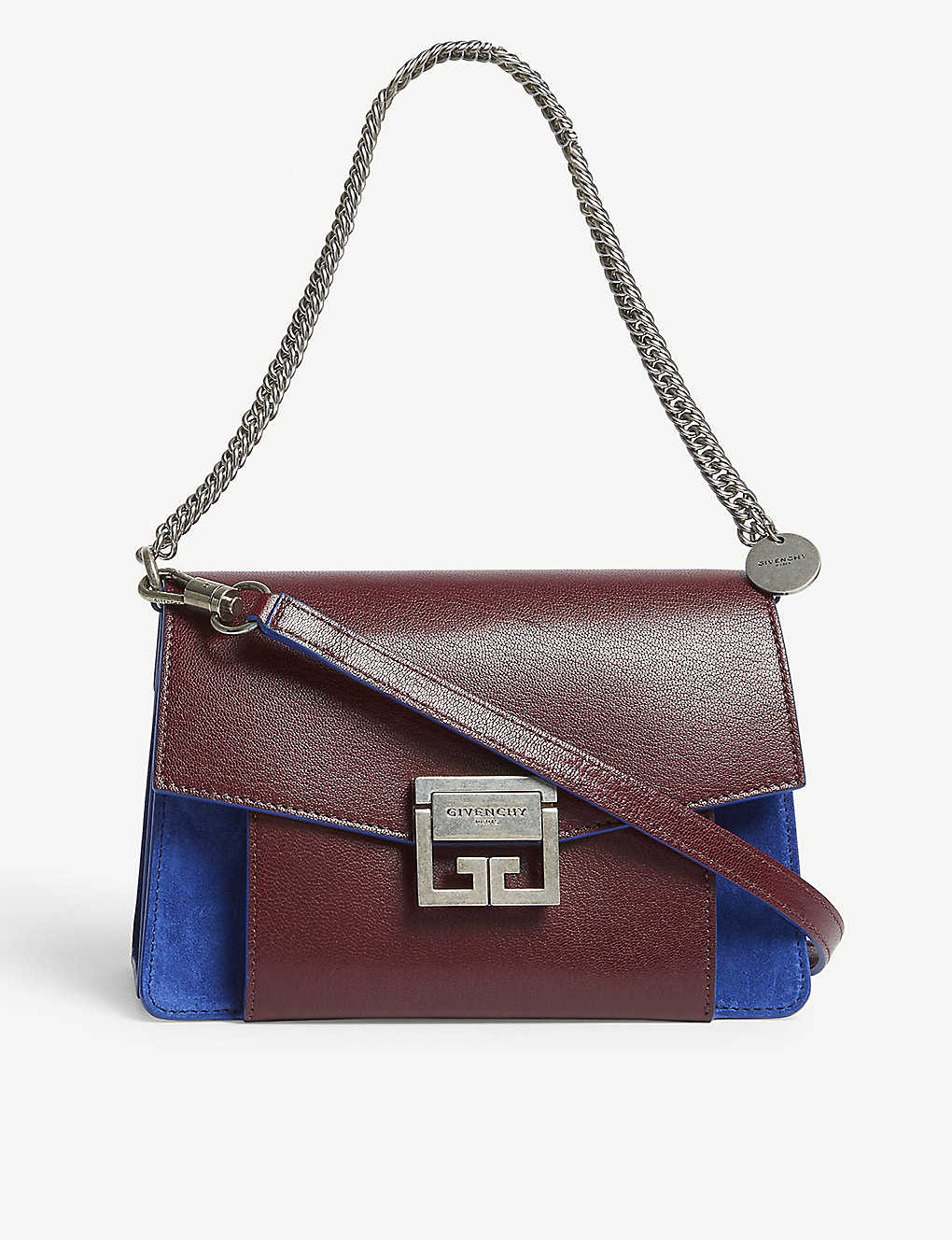 2a5fd55886ef GIVENCHY - GV3 small leather-suede shoulder bag