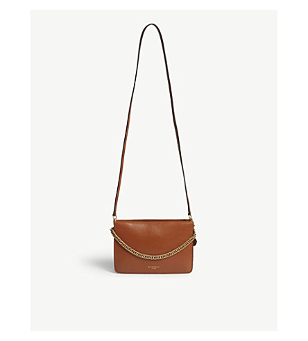 26d53c4c6f ... GIVENCHY Cross3 leather and suede shoulder bag (Chestnut. PreviousNext