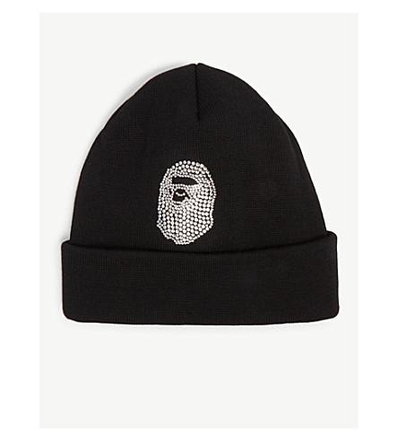 ... A BATHING APE Swarovski crystal beanie hat (Black. PreviousNext 89ddeea6df1