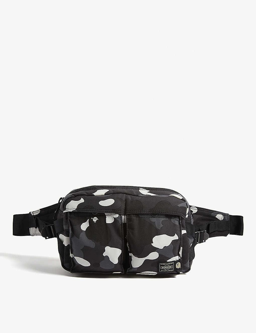 A BATHING APE - Porter 1st Camo canvas waist bag  a79aa6d285996
