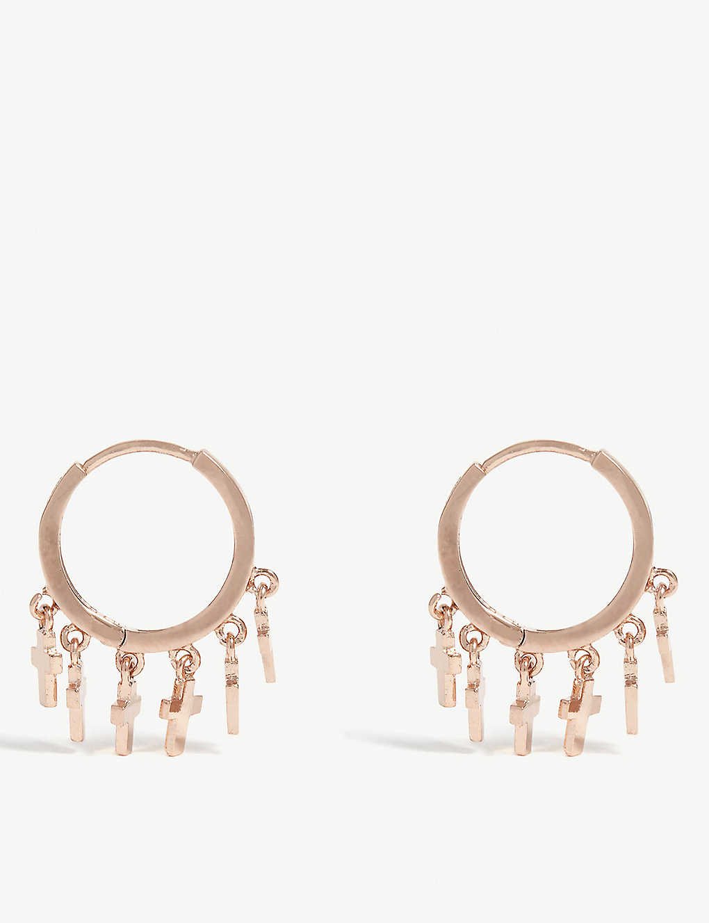 f111b3b84 ASTRID & MIYU - Mystic Cross hoop earrings | Selfridges.com