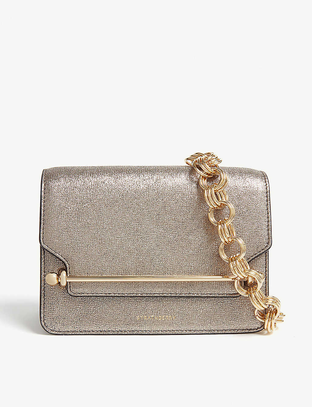 d81dd84c1680 STRATHBERRY - East West mini metallic leather cross-body ...