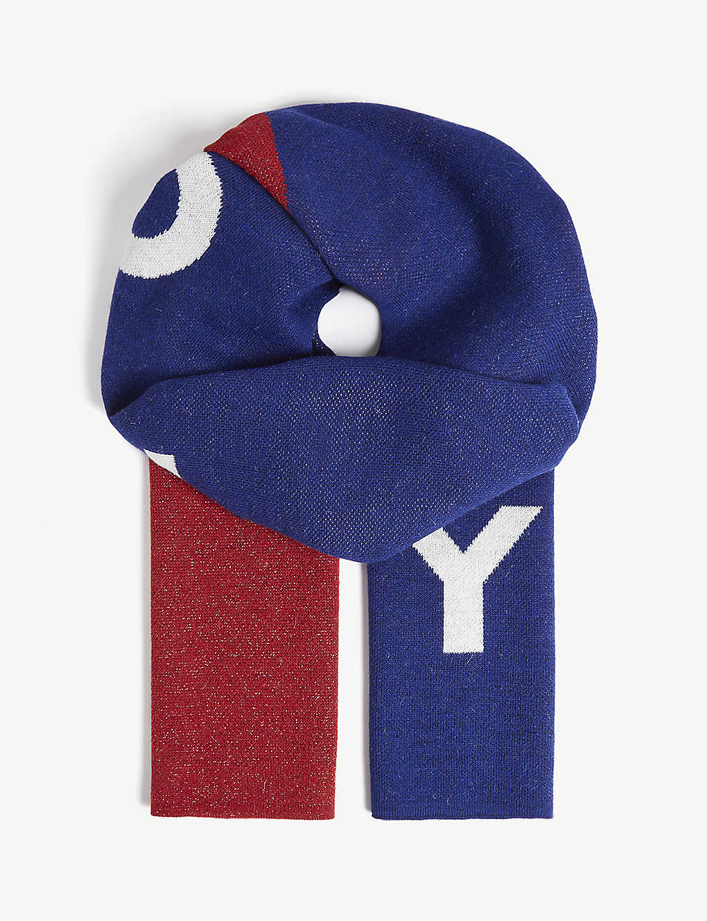 TOMMY JEANS - Logo chevron stripe knitted scarf  5a96dc5d89f3