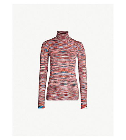 Turtleneck Striped Wool Jumper by Missoni