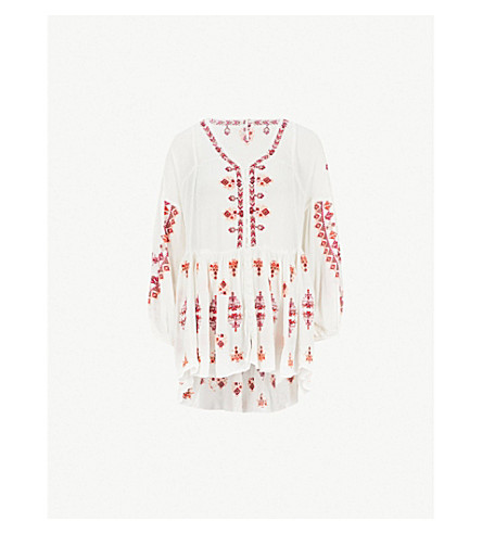 a9965a4f1c4 ... FREE PEOPLE Arianna embroidered woven top (Ivory. PreviousNext