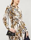 0ac51f0729ab ... FREE PEOPLE Tough Love floral-pattern crepe shirt dress (Ivory ...