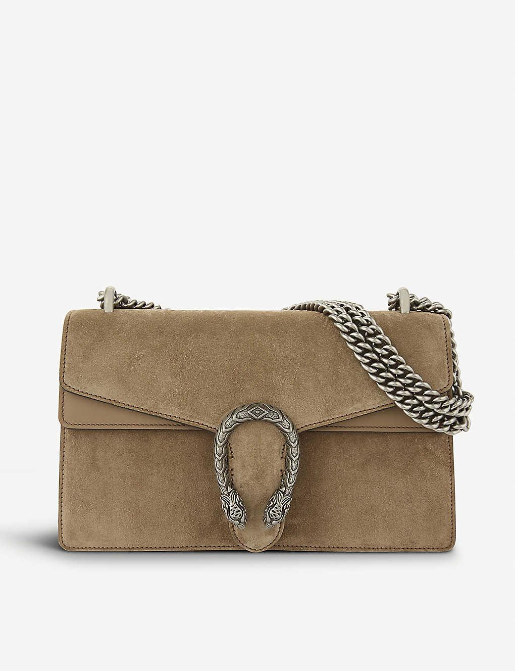 4d59d477a8d9 GUCCI - Dionysus small suede shoulder bag