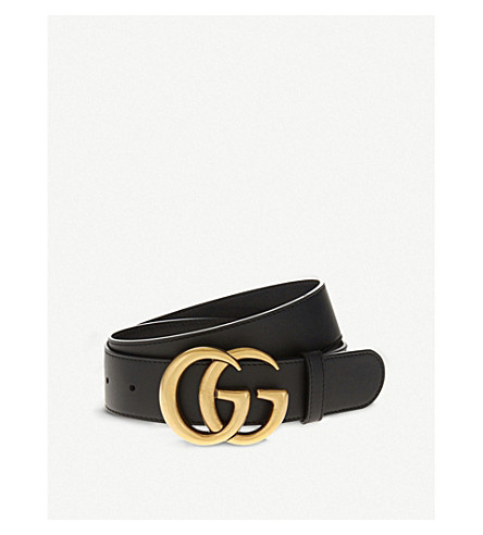 ... GUCCI Double G leather belt (Nero. PreviousNext f5b19392cde