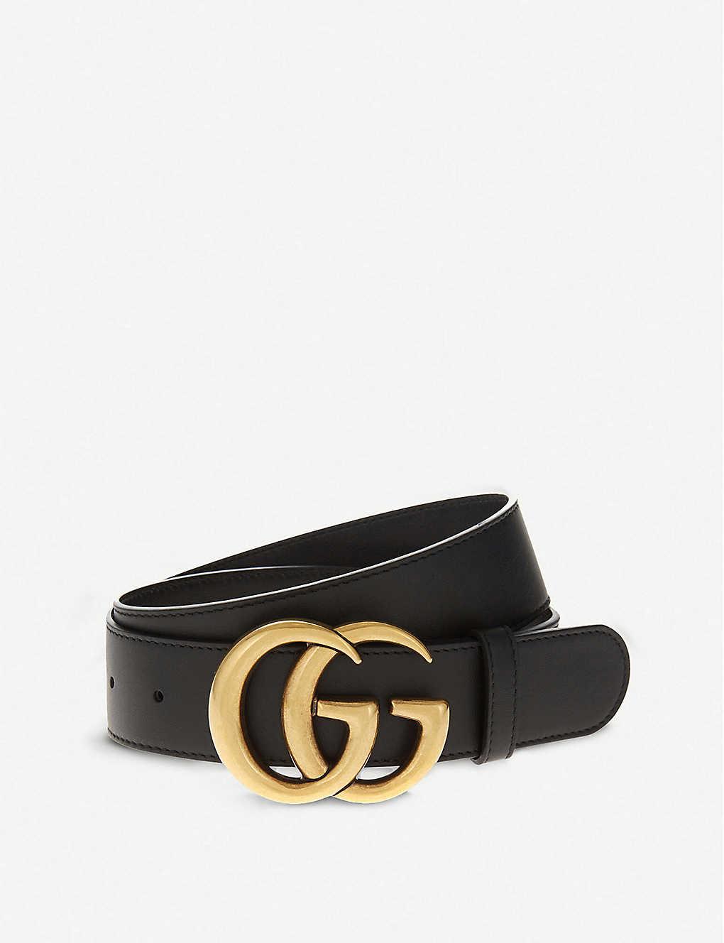 GUCCI - Double G leather belt  c557d4bd2