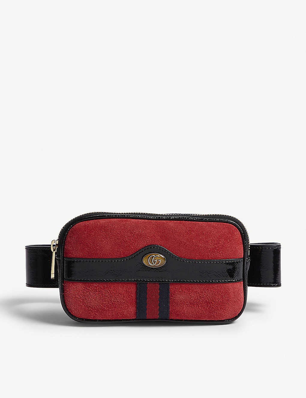 5848d4ea61ce42 GUCCI - Ophidia small leather and suede belt bag   Selfridges.com