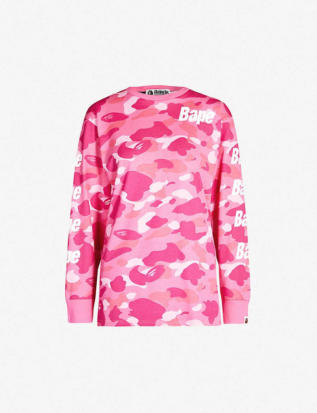 a73016ab BAPE - Camouflage branded sleeve cotton-jersey T-shirt | Selfridges.com