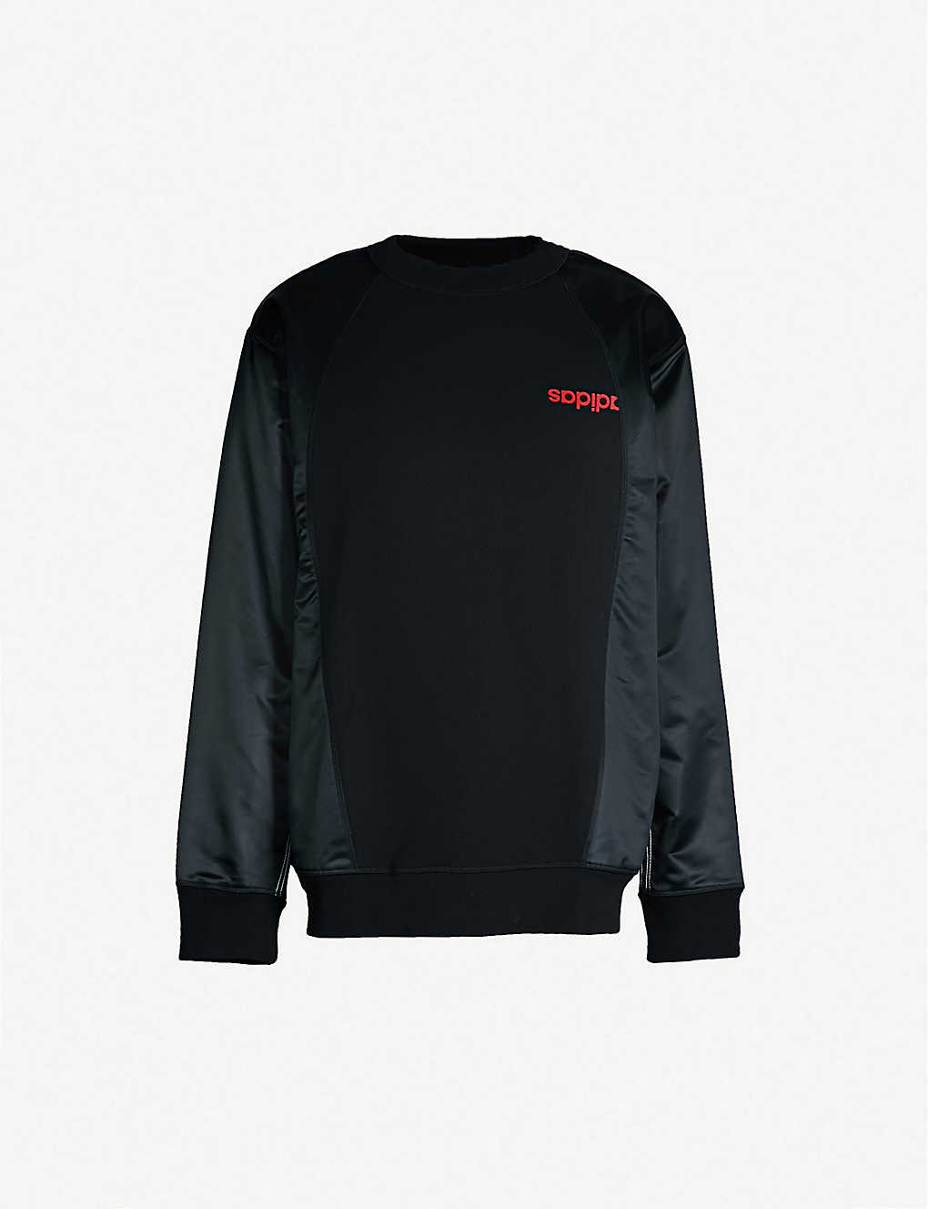 ADIDAS X ALEXANDER WANG - Logo-print cotton and satin sweatshirt ... 5a78480f7a987