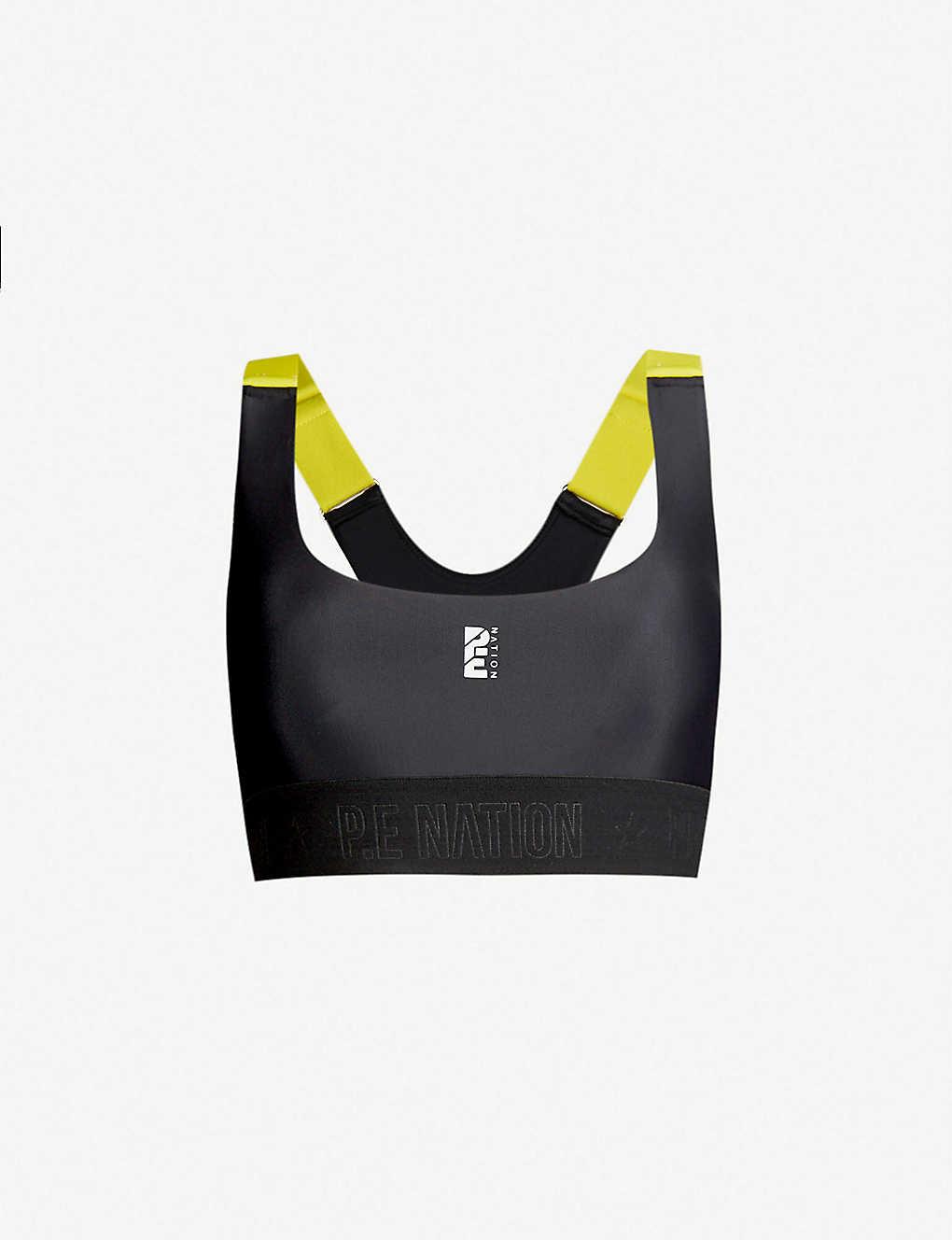 80618f633db5f P.E NATION - Division Round stretch-jersey sports bra