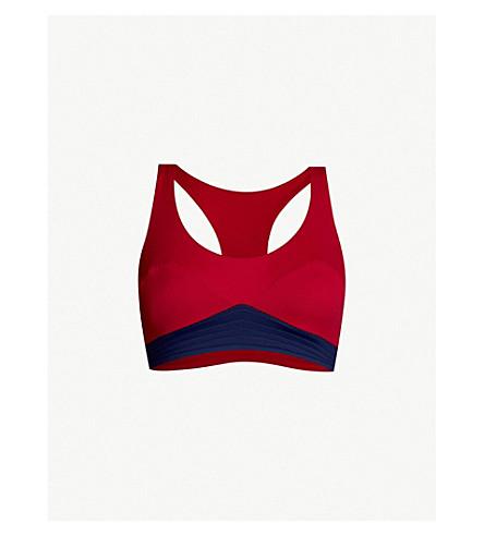 ebf76e7bfac31 ... Diane stretch-jersey sports bra (Red+navy. PreviousNext