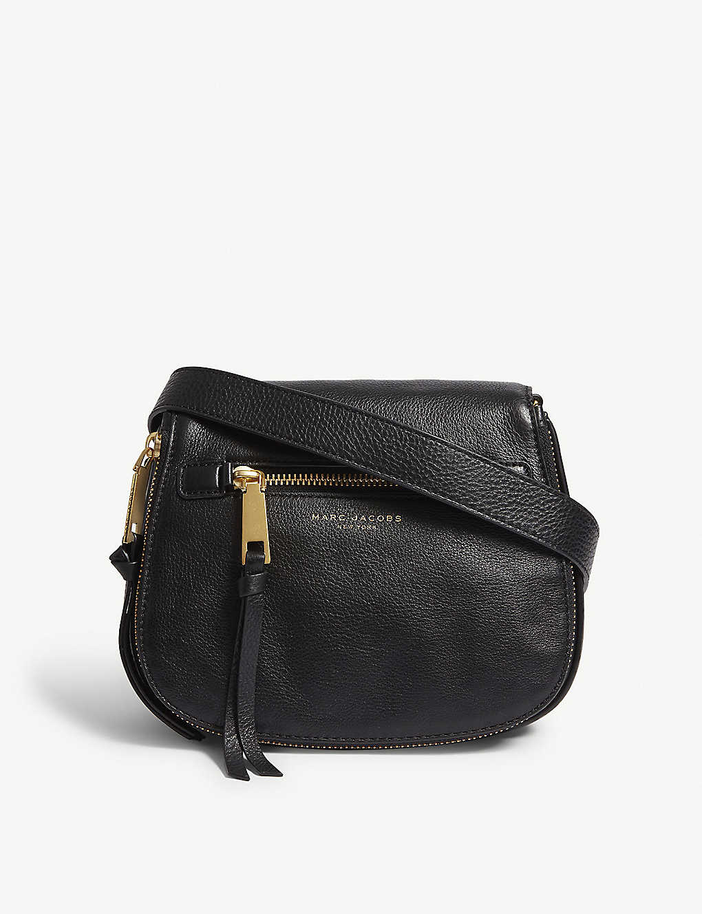 ffc9c7d038 MARC JACOBS - Recruit small grained leather saddle bag