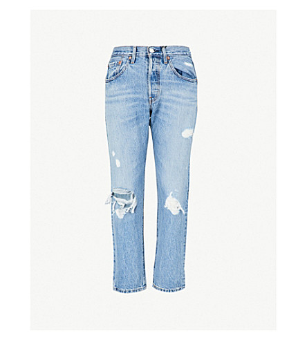 LEVI S - 501 high-rise straight cropped jeans  ac5d2041d22