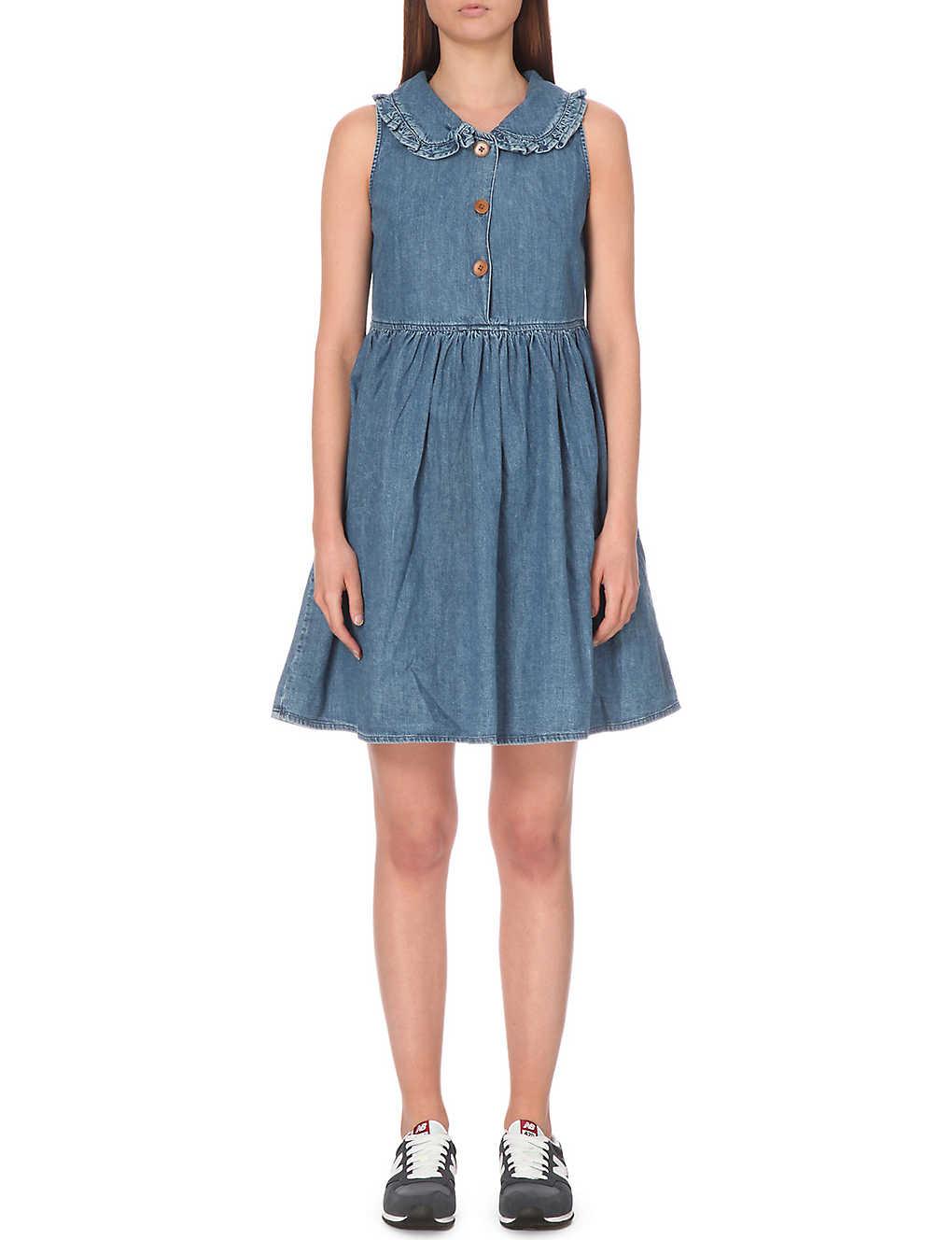 5c7bd89ec2e MIH JEANS - frilled collar denim dress