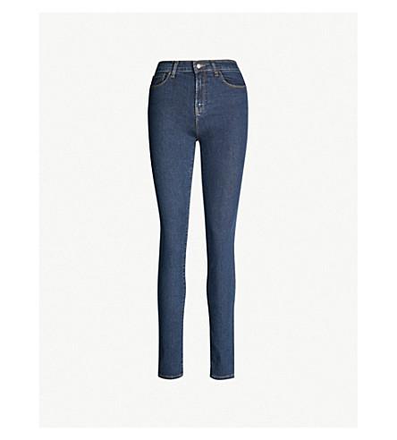 484d3a8c29c EMPORIO ARMANI - High-waisted stretch-denim skinny jeans ...