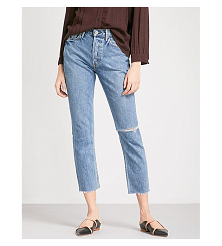 karolina-skinny-cropped-high-rise-jeans by grlfrnd