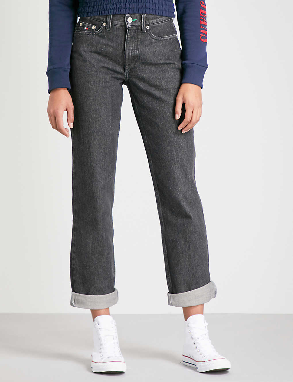 f0c1b6ca TOMMY JEANS - '90s mom-fit tapered high-rise jeans | Selfridges.com