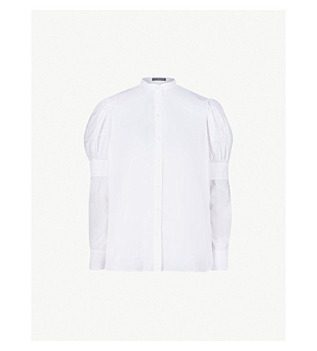 862cf7dc6f6501 ... ALEXANDER MCQUEEN Layered cotton-poplin shirt (White. PreviousNext