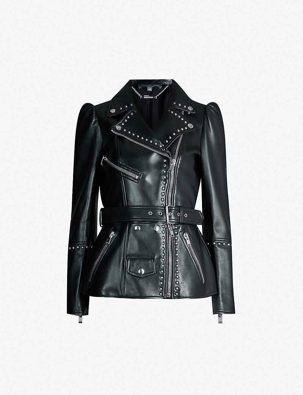 ALEXANDER MCQUEEN - Studded leather biker jacket   Selfridges.com 42c410b4bf8