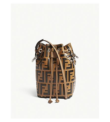 ca54d9aeffd1 ... FENDI Mon Tresor small leather bucket bag (Brown. PreviousNext