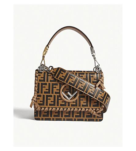 9367bb872e77 FENDI - Kan I logo medium leather shoulder bag