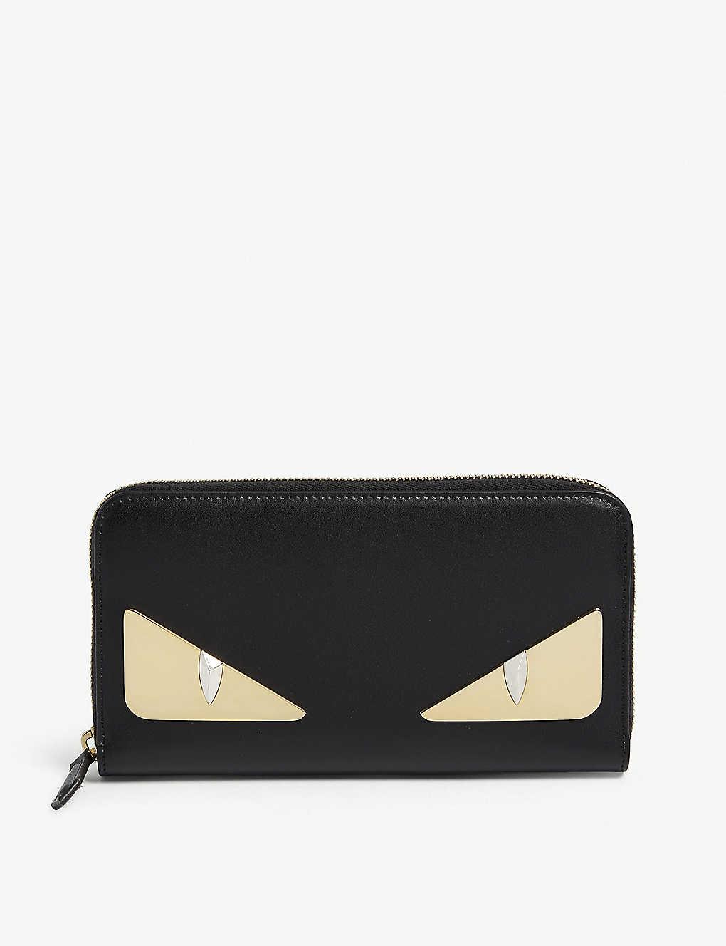 d5587ef6424f FENDI - Monster leather zip-around wallet