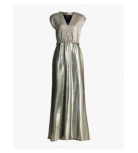 MAX MARA ELEGANTE - Bacio plissé-detail lamé gown  0597d835e14