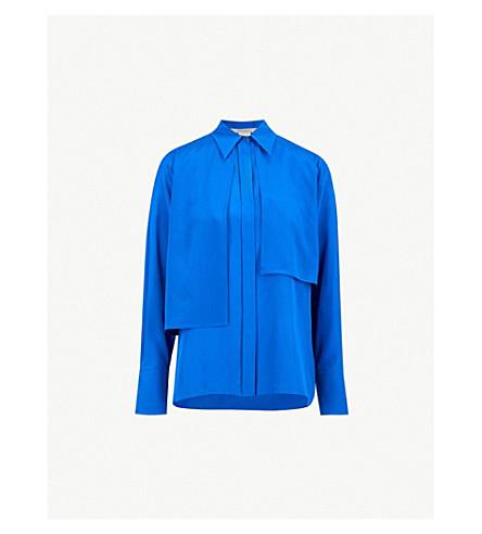 0ff0b38872b SPORTMAX - Calibri asymmetric silk shirt | Selfridges.com