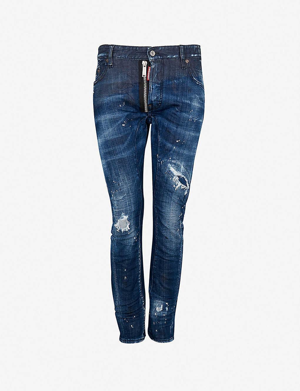 DSQUARED2 - Distressed slim-fit stretch-denim jeans  903a6fe9dfb3