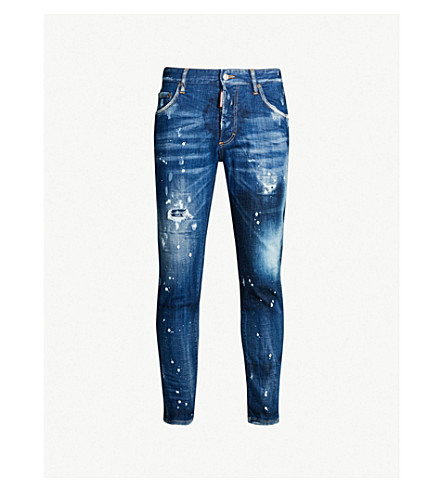 Ripped Faded Skinny Jeans by Dsquared2