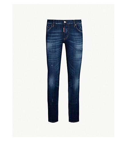 ... DSQUARED2 Slim-fit distressed skinny stretch-denim jeans (Blue.  PreviousNext 879bb985d39f