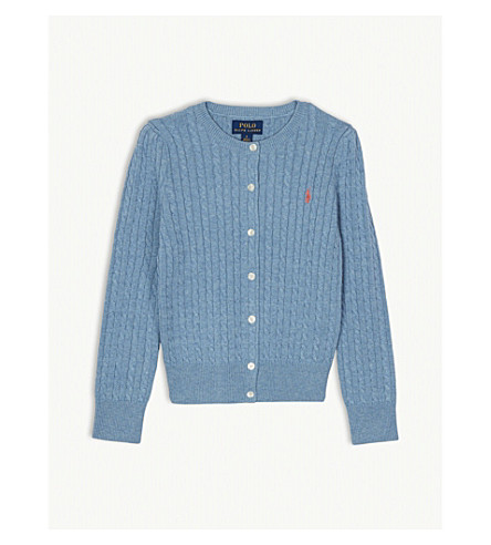 416b1a7be6 RALPH LAUREN Cable knit cotton cardigan 7-14 years