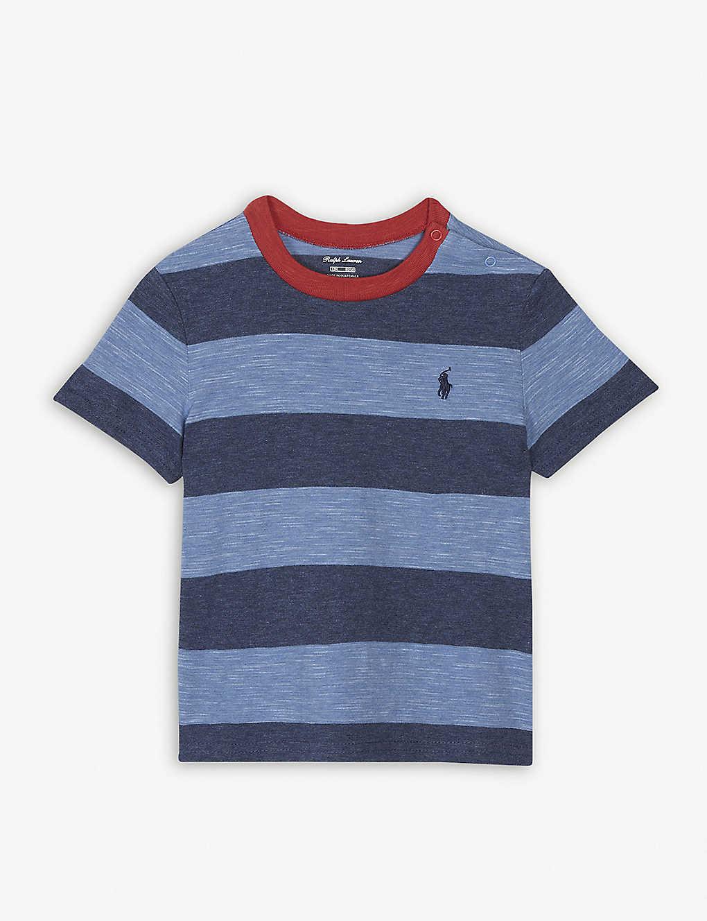 97b8624490a RALPH LAUREN - Block stripe cotton T-shirt 3-24 months