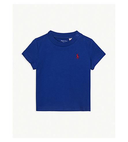 8bf879a6a ... RALPH LAUREN Logo cotton T-shirt 3-24 months (Sapphire+star.  PreviousNext