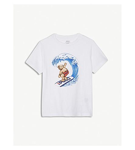 fa5b797ae RALPH LAUREN - Surfer polo bear print cotton T-shirt 2-4 years ...